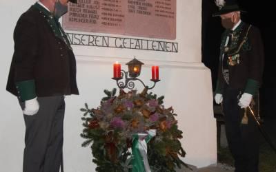 Schlichtes Gedenken am Miederer Kalvarienberg