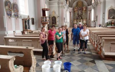 Kirchenputz in Telfes