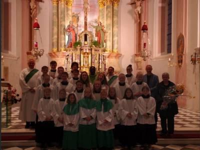 Begrüßung von Pfarrer Augustinus Kouanvih in Telfes