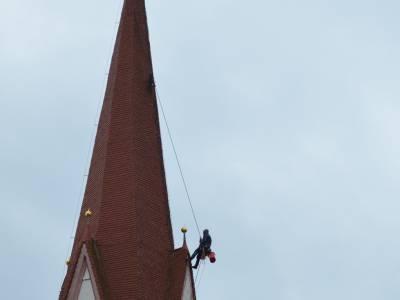 Kirchturmsanierung in Telfes