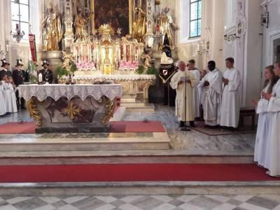 Kirchweihfest und Einstand von Pfarrer Augustinus in Fulpmes am 8.9.2019
